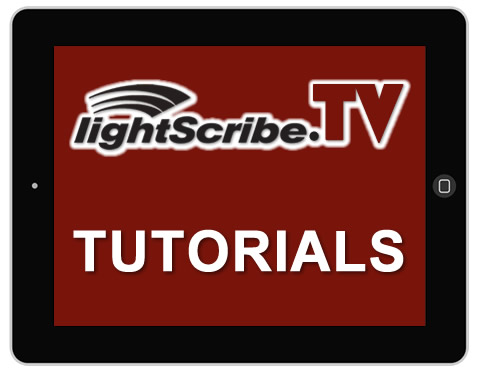 The tutorial section of LightScribe.TV