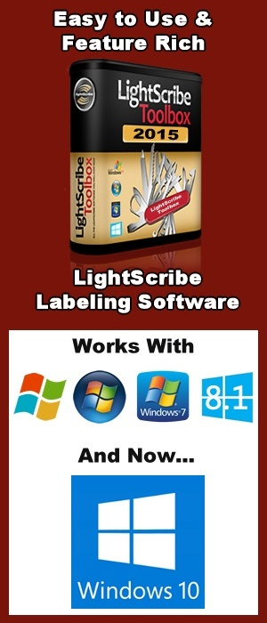 LightScribe Toolbox 2015 Works With Windows 10