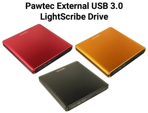 Pawtec External USB 3.0 LightScribe Drive